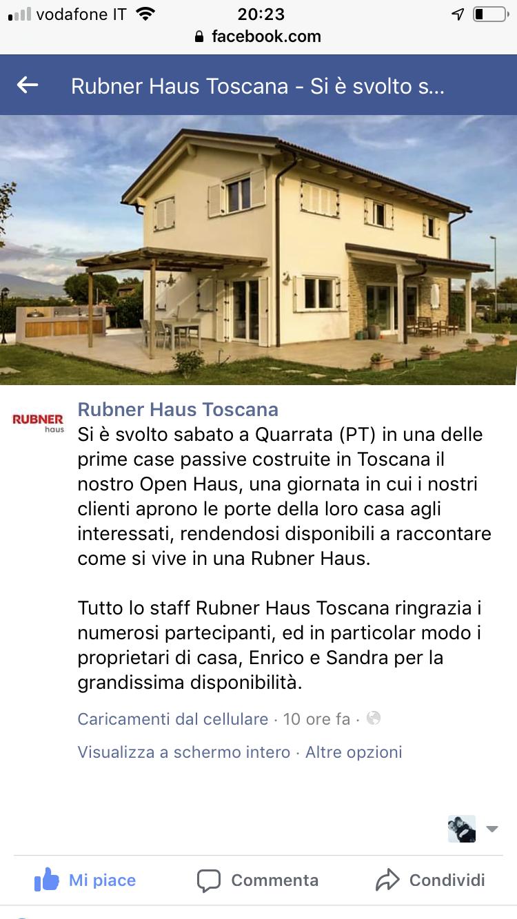 Open House Rubner 5 Ottobre 2019